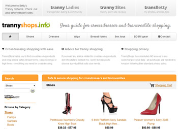 Tranny Shops - online shopping for crossdressers